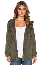 Selia Army Jacket in Deep Green