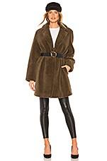Velvet by Graham & Spencer Trishelle Jacket With Faux Fur in Olive
