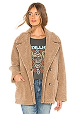 Velvet by Graham & Spencer Yoko Faux Sherpa Jacket in Tan