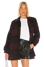 Velvet by Graham & Spencer Kourtney Plaid Coat in Multi