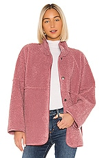 Velvet by Graham & Spencer Albany Lux Faux Sherpa Jacket in Dusty Rose