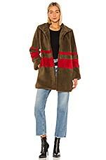 Velvet by Graham & Spencer Evian Stripe Sherpa Coat in Multi