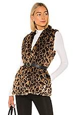 Velvet by Graham & Spencer Stephie Faux Fur Vest in Multi