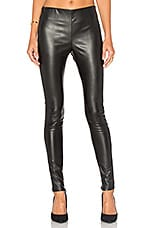Berdine Faux Leather Legging en Noir