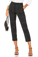 Velvet by Graham & Spencer Jackie Pant in Green Plaid