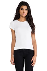 Jemma Gauzy Whisper Crew Top in White