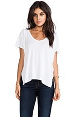 Velvet Luxe Slub Darcy Top in White