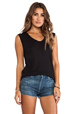 Lily Aldridge for Velvet Leslie Cotton Hemp Tank in Black
