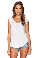 Geralyn Sheer Texture Knit Top en Blanc