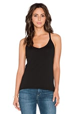 Nastia Gauzy Whisper Tank in Black
