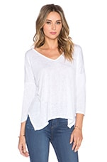 Belina Sheer Texture Knit Top en Blanc