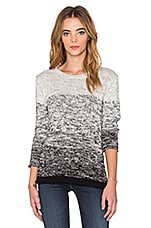 Eldora Ombre Cotton Long Sleeve Top en Chiné