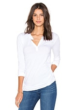 Denali Gauzy Whisper Long Sleeve Top en Blanc