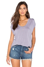 Olivia Modal Knit V Neck Top en Iris