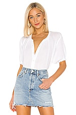 Velvet by Graham & Spencer Paulina Button Down in White