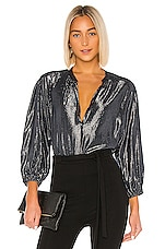 Velvet by Graham & Spencer Linette Blouse in Graphite