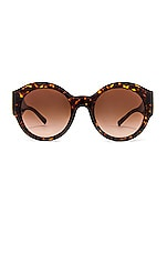 VERSACE Medusa Rock Icons Round in Havana & Brown Gradient