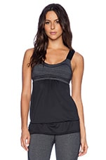 Vimmia Slider Drawstring Tank in Static Stripe & Black