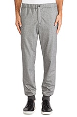Two Tone Jogger Trouser in Light Grey