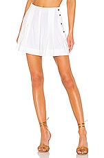 Vince Pleat Front Short in Optic White