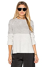 SWEAT COL ROND COLORBLOCKED