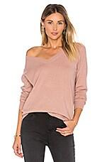 Vee Sweater in Rose Hip
