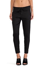 Folded Waist Trouser in Black