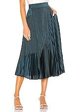 Vince Mixed Media Pleated Skirt in Carpinteria