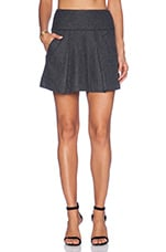 Pleated Skirt in Heather Charcoal
