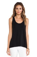 Drape Hem Tank in Black