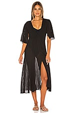 Vix Swimwear Malia Caftan Dress in Black