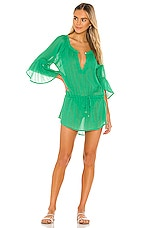 Vix Swimwear Sprite Chemise Tunic Dress in Kelly Green