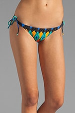 Tribal Tie Embroidery Bikini Bottom in Multi