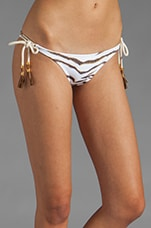 Jamaica Long Tie Side Bottom in White