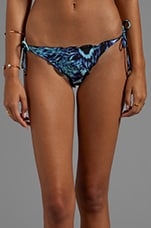 Peri Ripple Tie Bottom in Digital Blue