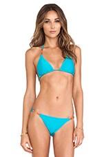 Tri Bikini Top in Solid Turquoise