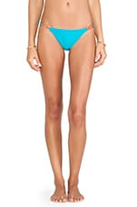 Detail Bikini Bottom in Solid Turquoise