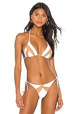 Vix Swimwear Wave Tri Top in White