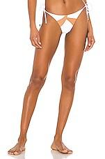 Vix Swimwear Wave Tie Side Cheeky Bottom in White
