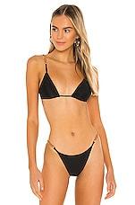 Vix Swimwear Elis Tri Parallel Bikini Top in Black