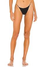 Vix Swimwear Elis Detail Bikini Bottom in Black