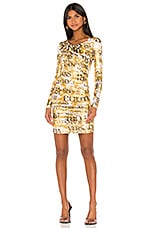 Versace Jeans Couture Long Sleeve Dress in Gold