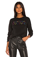 Versace Jeans Couture Logo Sweater in Nero