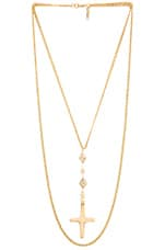 Nation Cross Necklace in Gold