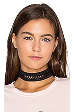 X Lace Choker in Black