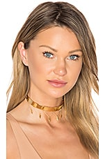 X REVOLVE Bar Choker with Arrow Drops in Gold