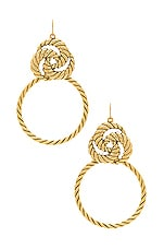 Vanessa Mooney The Valleta Earrings in Gold