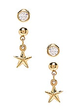 Vanessa Mooney X REVOLVE The Solstice Earring Set in Gold & Crystal