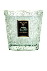 Voluspa Boxed 2 Wick Glass Candle in White Cypress