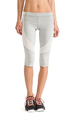 Flexible Capri Pant in Heather Grey